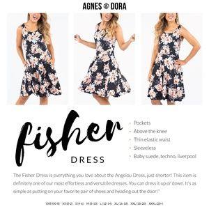 Fisher Dress in Black & blush by Agnes & Dora